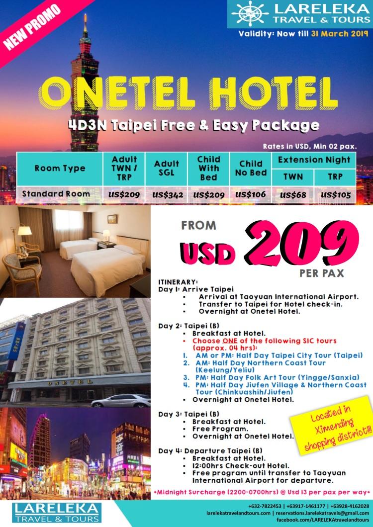 Onetel Hotel Promo